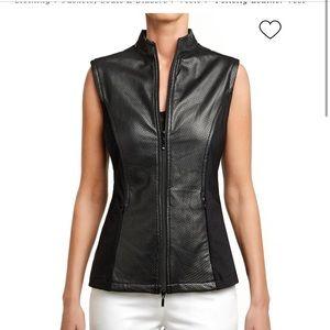 Anatomie Falicity Leather Stretch Vest